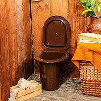 Ведро-туалет, 13 л, со съёмной ручкой, коричневое, фото 1