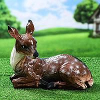 """Садовая фигура """"Косуля"""", коричневый цвет, 27 см"""