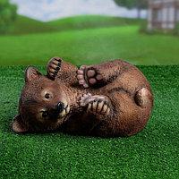 """Садовая фигура """"Мишка на боку"""" 28х21х16,5см"""