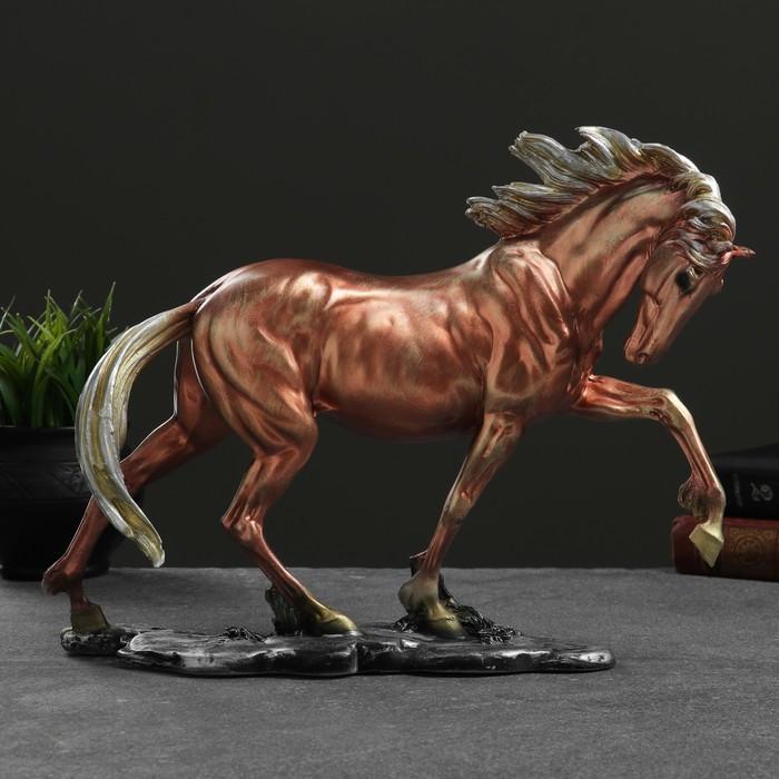 """Фигура """"Конь гарцующий"""" бронза,  35х27см"""