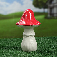 """Садовая фигура """"Мухомор"""", белый цвет, 20 см, фото 1"""