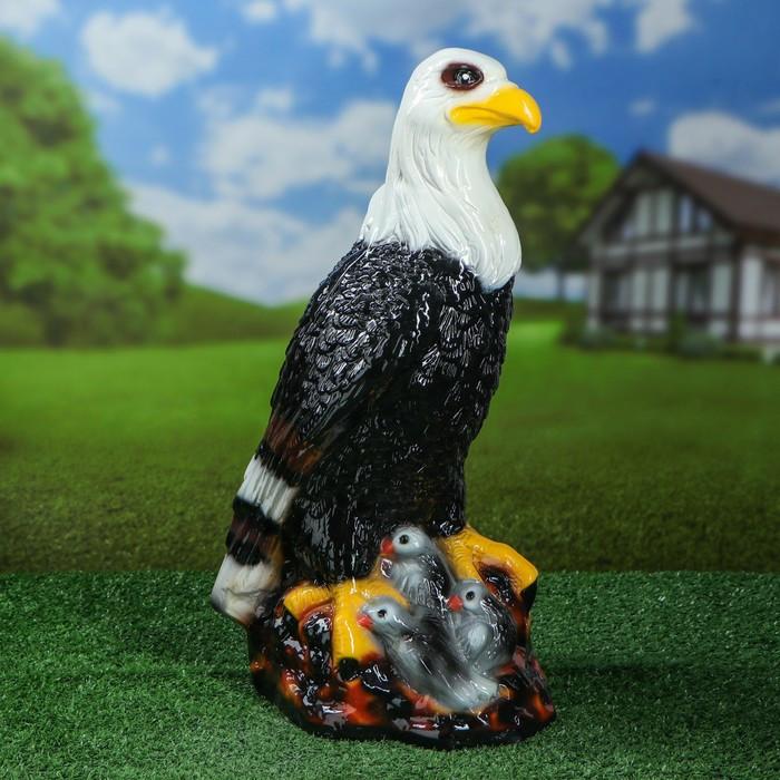 """Садовая фигура """"Орел в гнезде"""", разноцветный, 50 см"""