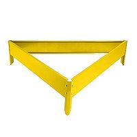 Клумба оцинкованная, 50 × 15 см, жёлтая, «Терция»