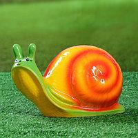 """Садовая фигура """"Добрая улитка"""", разноцветный, 17 см"""