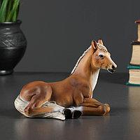 "Фигура ""Лошадь"" рыжий 14х8х10см"