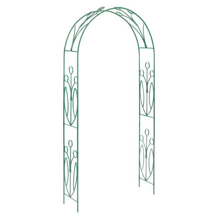Арка садовая, разборная, 230 × 125 × 36.5 см, металл, зелёная, «Ландыш» - фото 1