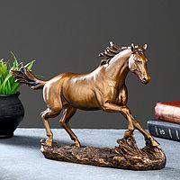 "Фигура ""Бегущий конь"" бронза 35х9х22см"
