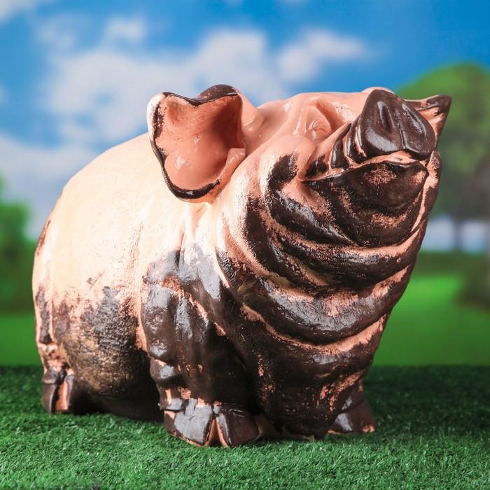 """Садовая фигура """"Свинья"""", розовый цвет, 30 см"""