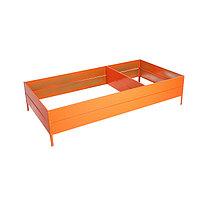 Грядка оцинкованная, 300 × 100 × 34 см, оранжевая