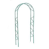 Арка садовая, разборная, 240 × 125 × 36.5 см, металл, зелёная, «Ёлочка», Greengo