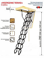 Чердачная лестница ножничная Oman 60х70х290см  тел.Whats Upp. 87075705151