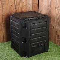 Компостер пластиковый Prosperplast, 380 л, с крышкой, 72 × 72 × 82,6 см, чёрный
