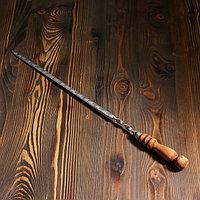 Шампур узбекский для шашлыка с деревянной ручкой 40 см