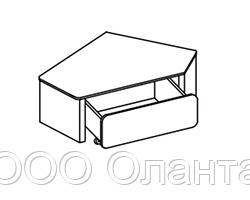 Игровой модуль угловой ТЕАТР (1000х1000х400 мм) арт. ТП2