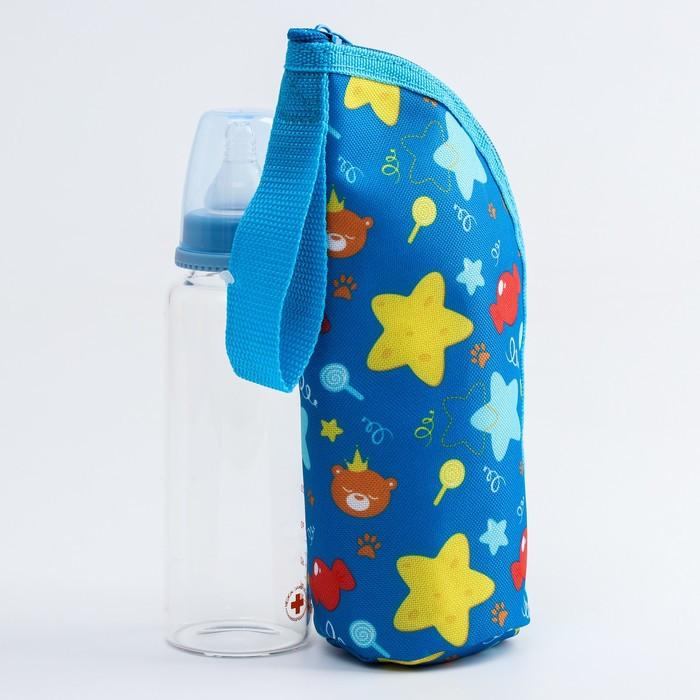 """Термосумка для бутылочки """"Мишка принц"""" на молнии"""