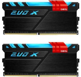Оперативная память GEIL EVO X SERIES PC4-19200 16-16-16-36 GEXB416GB24 (2x8Gb, DDR4 2400MHz)