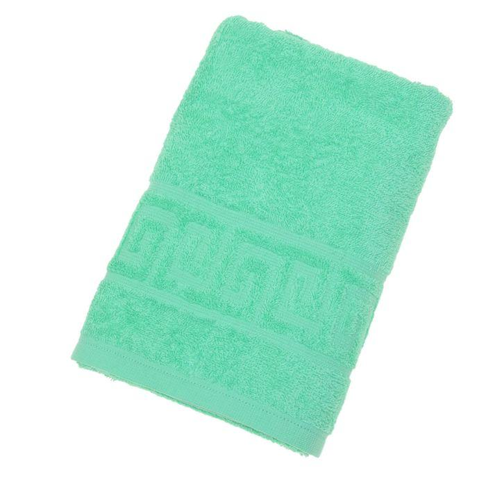 Полотенце махровое однотонное Антей 70х140 см, молодая зелень, 100% хлопок, 430 гр/м2