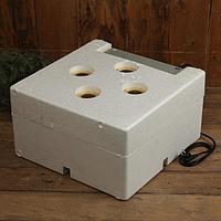 Инкубатор бытовой, на 60 яиц, автоматический переворот, 220 В, с кормушкой, поилкой, овоскопом, NIKA