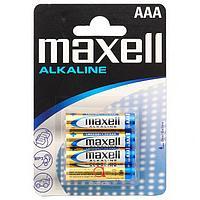 Батарейки MAXELL ALKALINE AAA (мизинчиковые) - 4 шт.