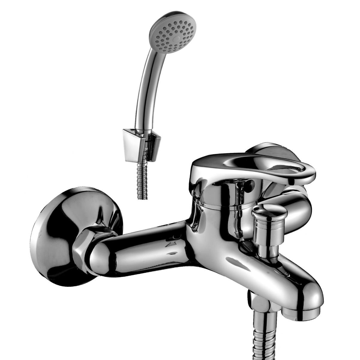 Смеситель Rossinka Silvermix D40-31 для ванны с коротким изливом