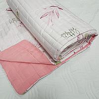 Легкие стеганные одеяла, размер 150*200, бело-розовые с авокадо