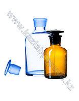 Банка (склянка) для реактивов, 30мл, прозрачная, с пришлиф. пробкой, узкая горловина