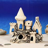 "Декорация для аквариума ""Замок и домик с трубой"", 8 х 21 х 19 см, микс"