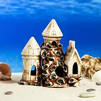 """Декорация для аквариума """"Две башни и дом"""", 8 см × 18 см × 22 см"""