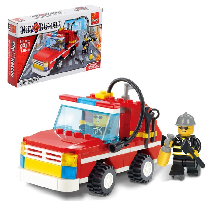 Конструктор «Пожарная охрана», 140 деталей