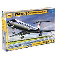 Сборная модель «Пассажирский авиалайнер Ту-134 А/Б-3», фото 1