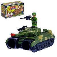 Бинокль «Танк», с ремешком и солдатиками, фото 1