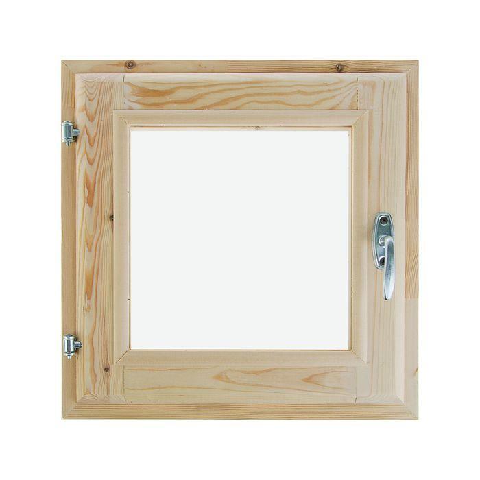 Окно, 40×40см, двойное стекло, из хвои