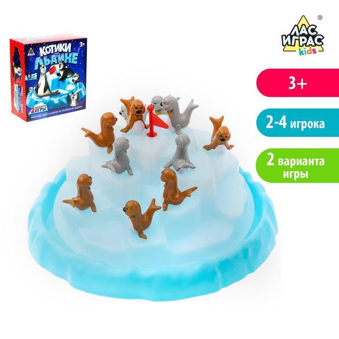 Настольная игра на равновесие «Котики на льдине»