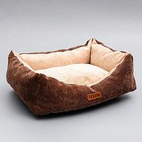 Лежанка со съемным чехлом, 45 х 35 х 13 см, микровельвет