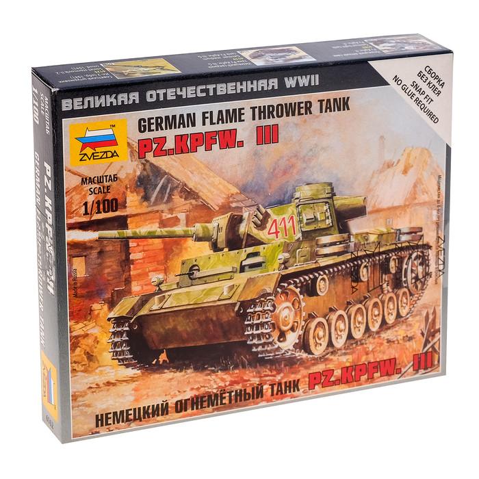 Сборная модель «Немецкий огнеметный танк Pz.Kpfw. III»