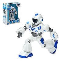Робот «Герой», световые и звуковые эффекты, работает от батареек, с металлическими элементами, фото 1