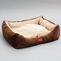 Лежанка со съемным чехлом, 55 х 45 х 15 см, микровельвет