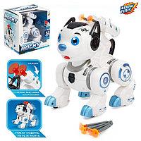 Робот-собака «Рокки», стреляет, световые эффекты, работает от батареек, цвет синий, фото 1