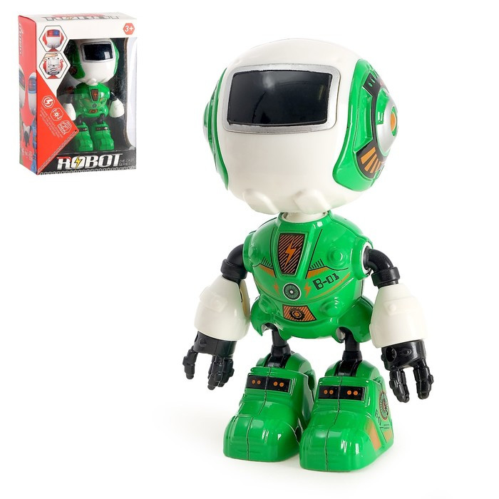 Робот «Вольт», световые и звуковые эффекты, работает от батареек, цвета МИКС