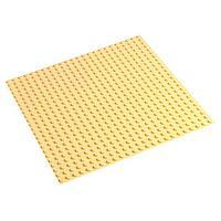 Пластина-основание для конструктора 38,5х38,5 см (диаметр 0,8 см), цвет бежевый, фото 1