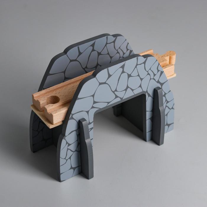 Деталь для ж/д «Туннель с мостом» 11.5×14.5×5.8 см