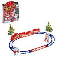 Железная дорога «Дед мороз», с декорациями, фото 1