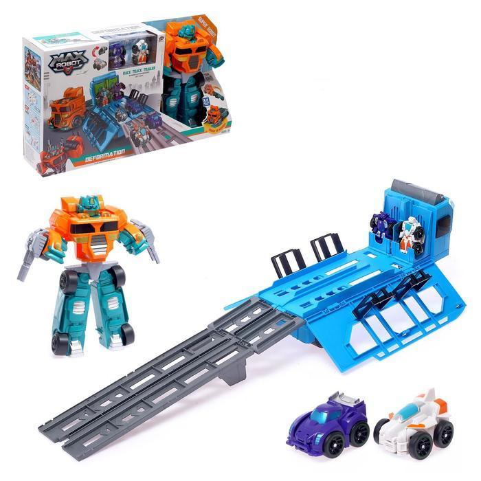 Автотрек «Автоботы» с машинками-трансформерами
