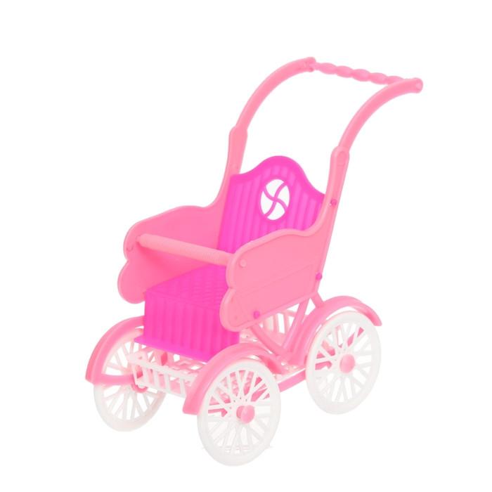 Коляска для кукол «Летняя», цвета МИКС