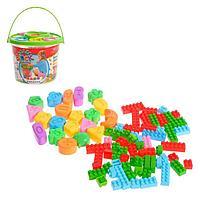Конструктор для малышей «Забавные зверята», в ведре, 84 детали, цвета МИКС, фото 1