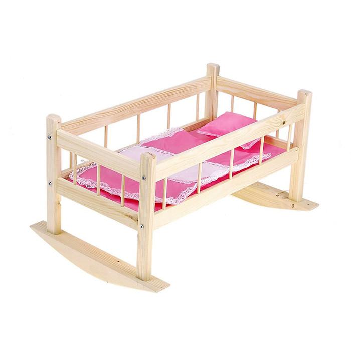 Кроватка для кукол № 9, цвета МИКС