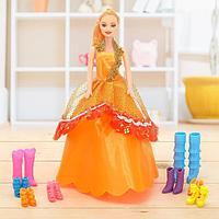 "Кукла модель ""Дженифер"" с набором обуви, МИКС, фото 1"