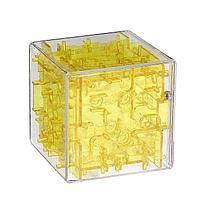 Головоломка-лабиринт «Квадрат», цвет жёлтый