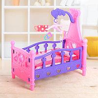 Кроватка для куклы, с каруселью и игрушками, фото 1