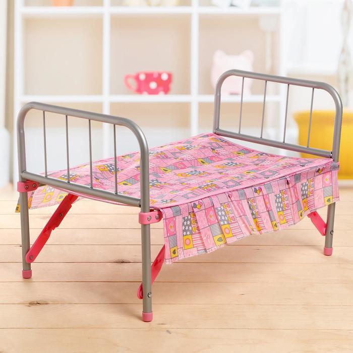 Кровать для кукол, металлический каркас